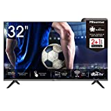 Hisense 32AE5500F 80 cm (32 Zoll) Fernseher (HD, Triple Tuner DVB-C/ S/ S2/ T/ T2, Smart-TV, Frameless, Prime Video, Netflix, YouTube, DAZN)